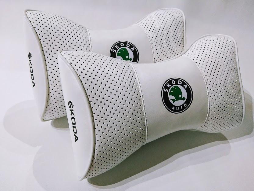 Якісна автомобільна подушка під шию Подушка на підголовник з логотипом SKODA Подушка-підголівник