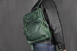 Рюкзак шкіряний LR-03 Зелений