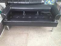 Офисный диван в офис Стронг (MebliSTRONG) - черный глянцевый цвет