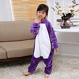 Кигуруми пижама Единорог фиолетовый детский, кигуруми Единорог фиолетовый для деток / Kig - 0068, фото 2
