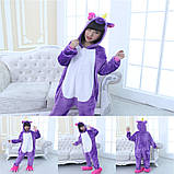 Кигуруми пижама Единорог фиолетовый детский, кигуруми Единорог фиолетовый для деток / Kig - 0068, фото 4