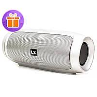 Колонка LZ Charge 4 Silver беспроводная стерео 10 Вт музыкальная акустика в дорогу для подростков павер банк