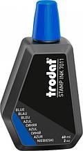 Штемпельная краска 60мл синяя Trodat