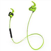 Спортивная беспроводная гарнитура Bluedio TE Green Bluetooth 4.1 наушники микрофоном для прослушивания музыки