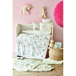 Детский набор в кроватку для младенцев Karaca Home - Digna pembe розовый (10 предметов)