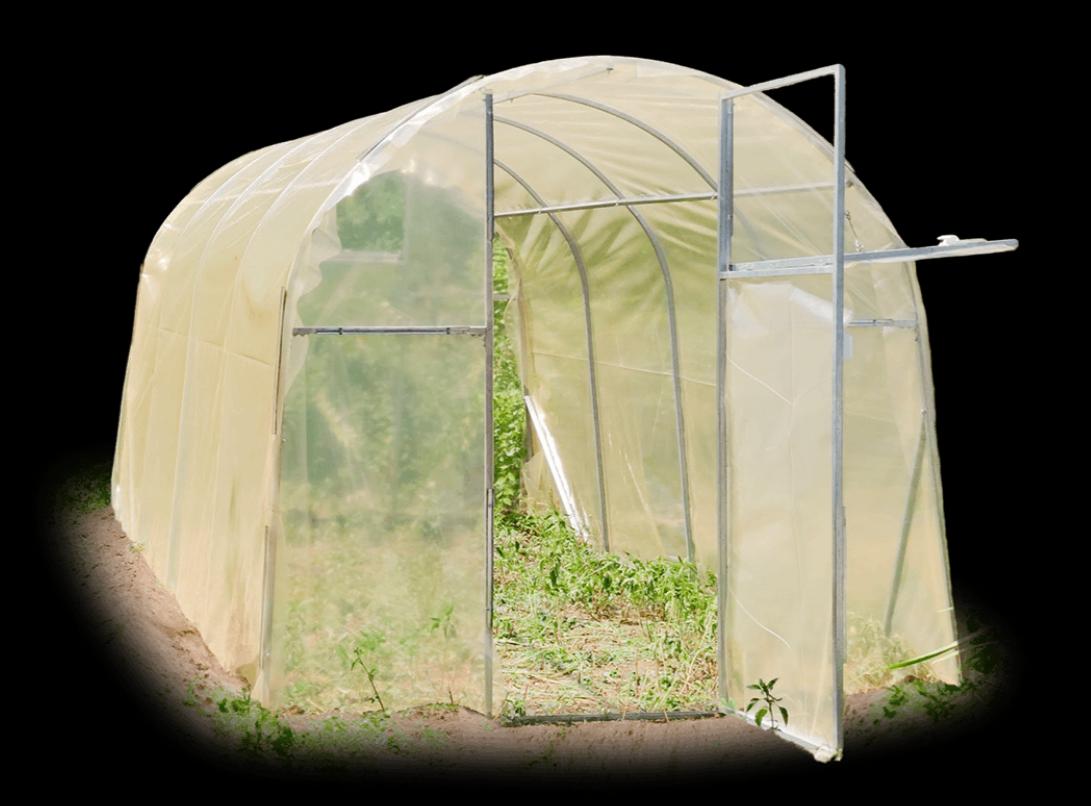 Каркасы теплиц «Веган» шириной 2 м из оцинкованной квадратной трубы 20х20х1 мм