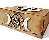 Шкатулка Таро на 2 колоды карт 19см, фото 3
