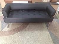 Офисный диван в офис Стронг (MebliSTRONG) - черный матовый цвет