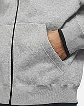 Толстовка Jordan Jumpman Classic men's Full-Zip Fleece Hoodie CV2355-091 Сірий, фото 3