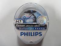 Лампа H7 BlueVision Ultra  SP 12V 55W (комплект) ,  производитель PHILIPS, 12972BVUSM