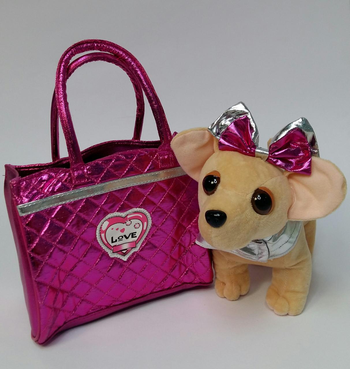 """Мягкая игрушка """"Собачка в сумочке"""", гавкает С 43976"""