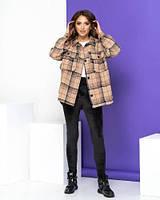 Женская куртка-рубашка в клетку новинка 2021, фото 1