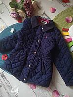 Пальто стеганое 2-4 года, демисезонное детское пальто, детская весенняя куртка, парка для девочки
