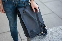 Рюкзак шкіряний LR-07 Синій