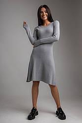 Стильное короткое платье А-силуэта в 3 цветах в S/M и M/L размерах