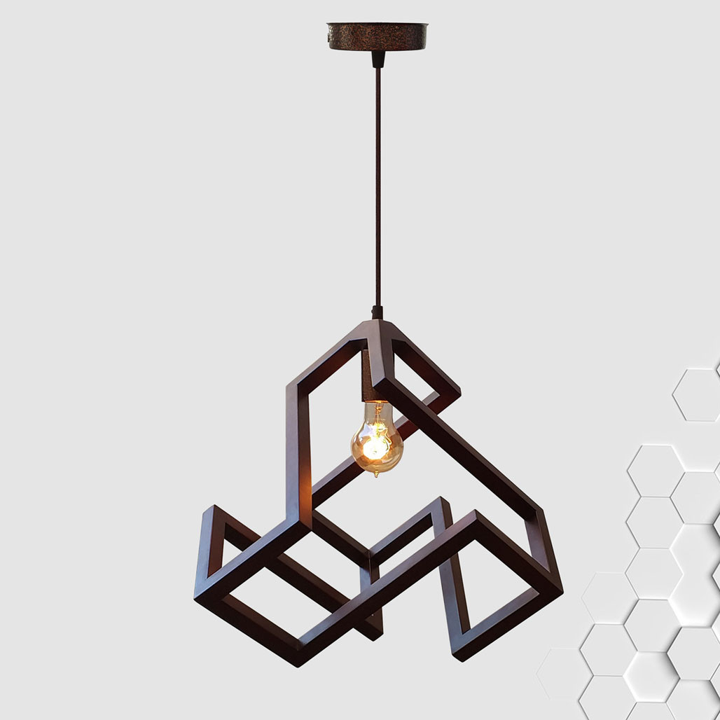 Подвесной светильник LABYRINTH E27 на 1-лампу, темное дерево