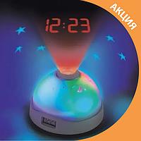 Годинник нічник з проектором Зоряного неба