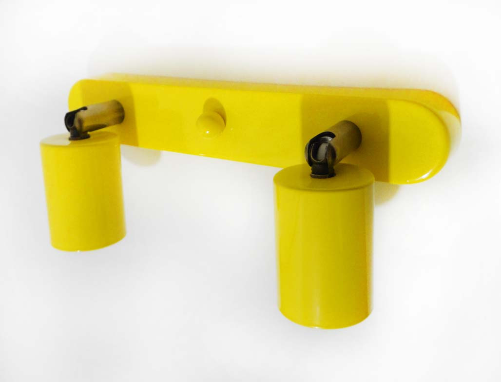 Спот поворотный на 2-лампы SLEEVE-2  E27  желтый