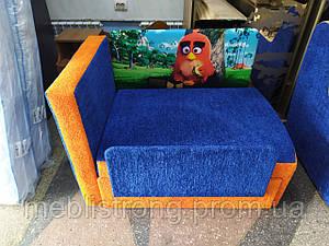 Детский диван с нишей для ребенка Мультик - принт Angry birds