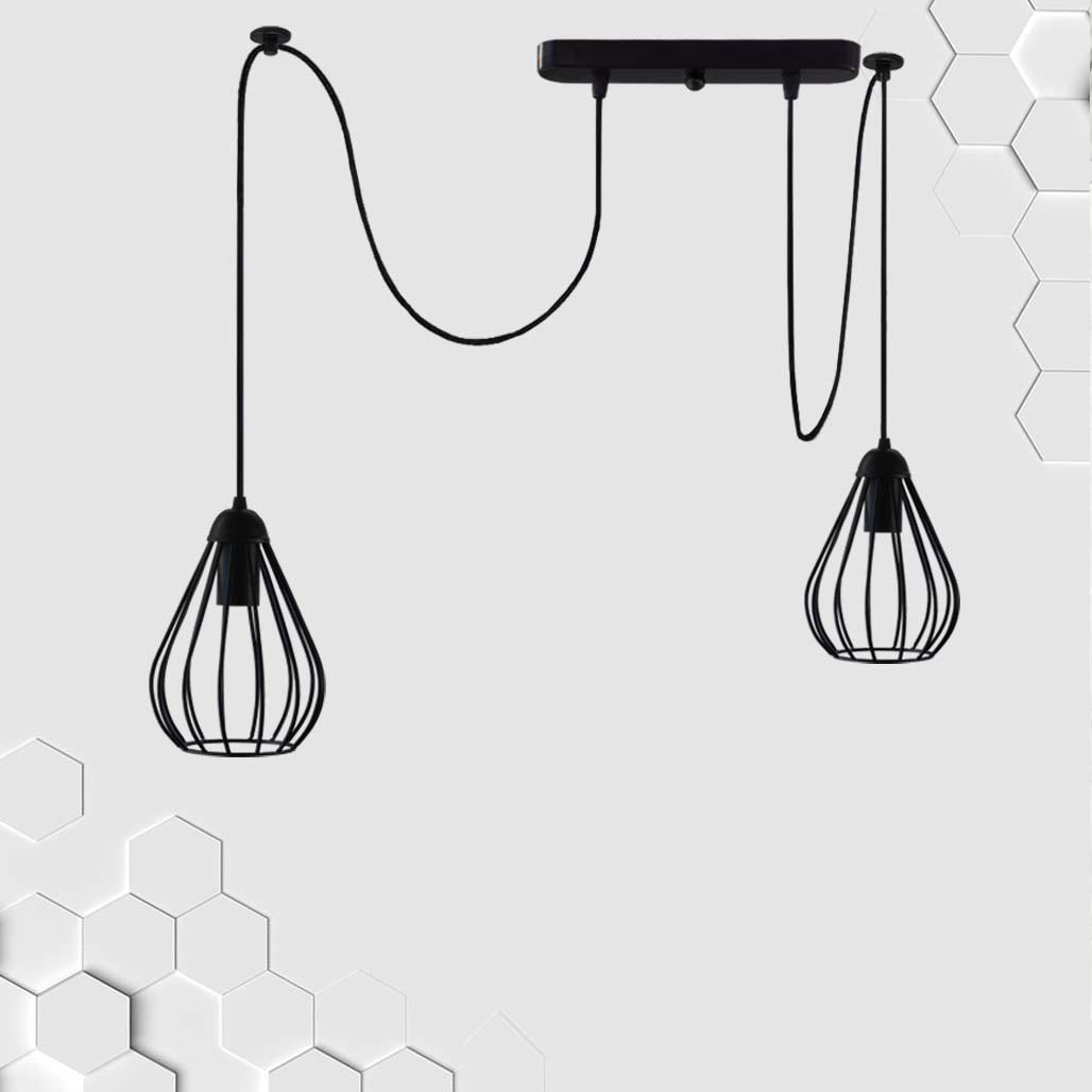Подвесной светильник на 2-лампы FANTASY/SP-2 E27 чёрный
