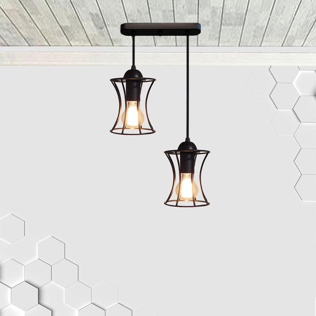 Подвесная люстра на 2-лампы SANDBOX-2 E27 чёрный