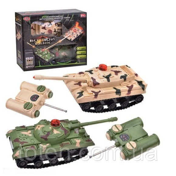 Танковый бой на радиоуправлении 9672 Play Smart, свет, звук, вибрация, на батарейках