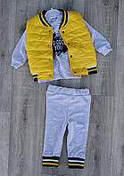 Детский костюм 9-18 мес двунитка для мальчиков Турция оптом
