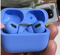 Беспроводные сенсорные блютуз наушники для телефона цветные AirPods PRO синие