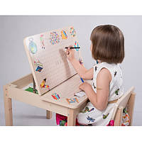 Стол-парта для рисования трансформер со стулом, фото 1