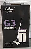 Комплект швабра с ведром с автоматическим отжимом Чудо швабра лентяйка для уборки Flat Mop, фото 6