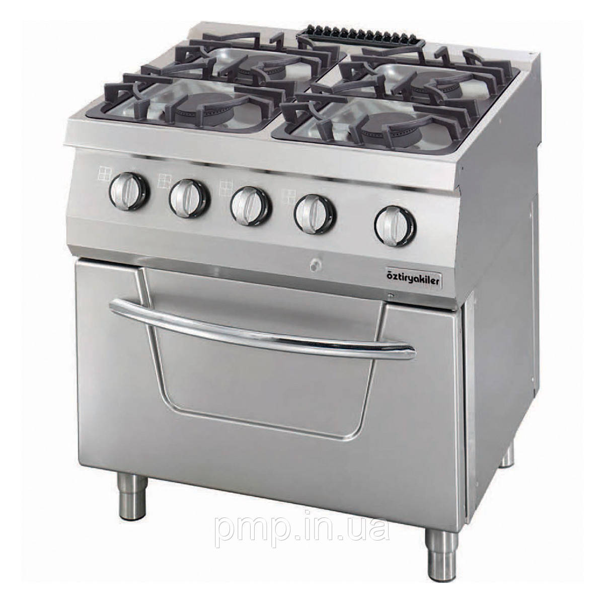 Газовая плита с духовкой Ozti OSOGF 8070 LS c 4 конфорками