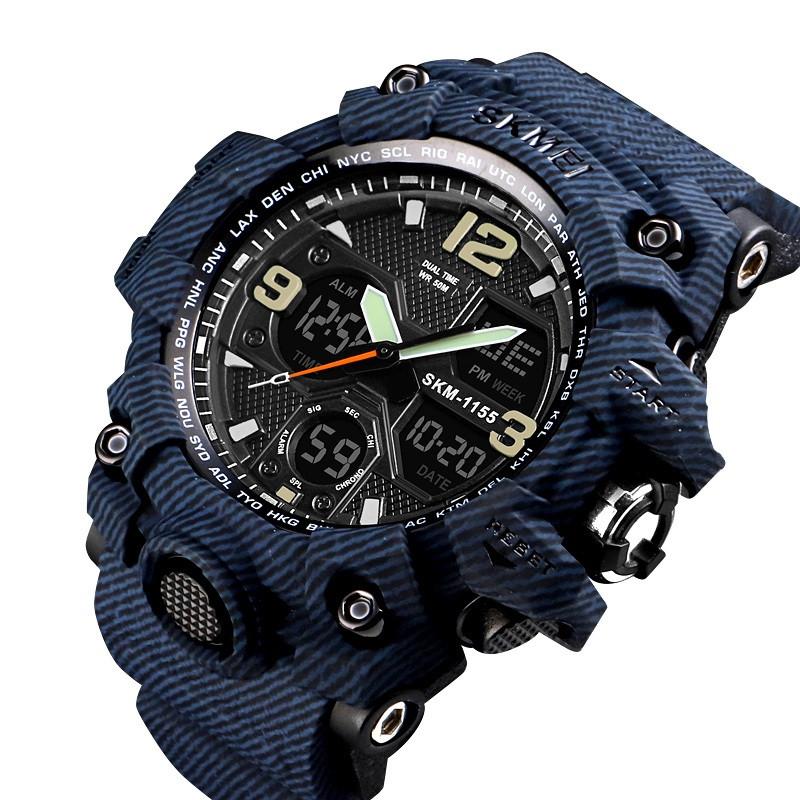 Спортивные мужские часы Skmei 1155 B HAMLET синий джинс