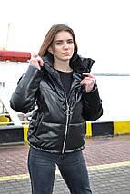 Утепленная кожаная куртка женская, фото 2
