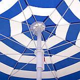 Пляжный зонт с регулируемой высотой и наклоном Springos 180 см BU0008 SKL41-252492, фото 6