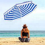 Пляжный зонт с регулируемой высотой и наклоном Springos 180 см BU0008 SKL41-252492, фото 7