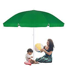 Пляжный садовый зонт усиленный с регулируемой высотой Springos зеленый 240 см BU0004 SKL41-252495