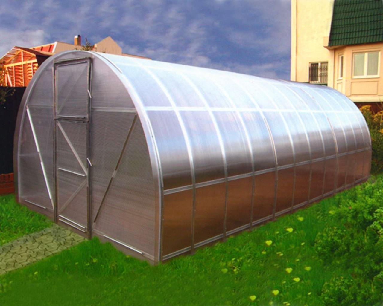 Теплиця Oscar Господарка 18 м2, 300х600х200 см з стільниковим полікарбонатом 8 мм SKL54-240814