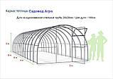 Теплиця Oscar Садівник Агро 24 м2, 300х800х200 см каркас під стільниковий полікарбонат SKL54-240830, фото 5