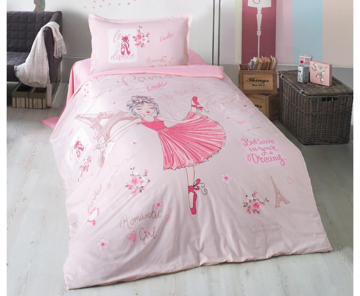 Підліткове постільна білизна Aran Clasy Romantic Girl 160x220 SKL53-239717