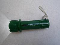 Фонарик ручной аккумуляторный с выдвижной вилкой для зарядки YAJIA YJ 9980 гладкий отражатель светодиодный