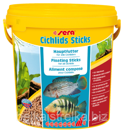 Sera Cichlids Sticks 2 кг /10 л.