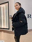 Куртка женская на молнии с кнопками и объемным капюшоном, фото 3