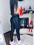 Черные кожаные лосины, фото 6