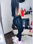 Черные кожаные лосины, фото 7
