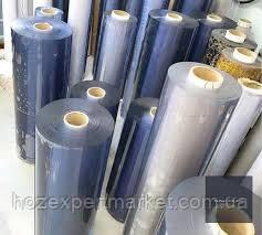 Плівка ПВХ силіконова, 300 мкм (0,3 мм) - 1,37х30м.Гнучке скло,м'яке скло,прозора, фото 3