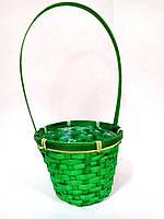 Корзина зеленая для флористического декорирования