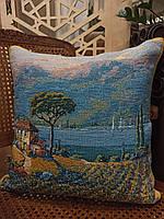 Подушка гобеленовая Flanders Pejman: Lakeside Vineyard Left 45x45, фото 1