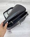 Женская сумка клатч «Келли» черная, фото 4