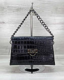 Женская сумка клатч «Келли» черная, фото 5
