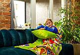 Рукоплед Плед з рукавами з мікрофібри з малюнками дитячий 125х80 Щенячий зелений патруль SKL20-277454, фото 2